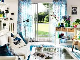 home decorating ideas curtains adorable summer decorating idea for small living room with flowers