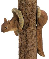 woodland squirrel tree decor rustic accents and