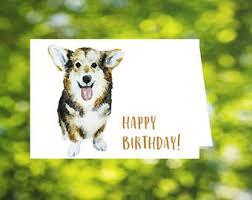 happy birthday sleeping corgi card corgi birthday card dog