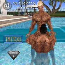 second life marketplace la farfalla full body tribal tattoo