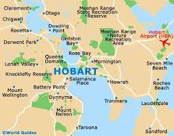 map of tasmania australia hobart maps and orientation hobart tasmania tas australia