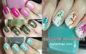 11 best nail art designs that made with printing machine