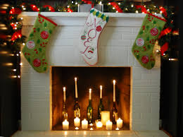 decorations graceful fireplace christmas decoration ideas