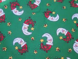 santa claus crescent moon fabric christmas craft quilt fabric 1 8