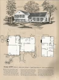 Tri Level Floor Plans Vintage House Plans 42787 Jpg