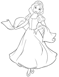 snow white coloring pages download print free