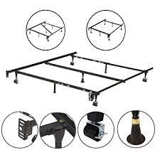 amazon com kings brand furniture 7 leg adjustable metal bed frame