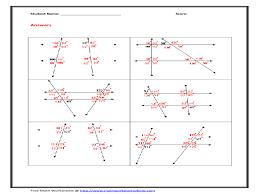 parallel lines and transversal wroksheet 10th grade worksheet