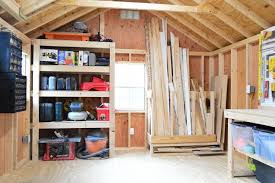 Building Wood Shelves In Shed by 4 Shed Storage Ideas For Tons Of Added Function