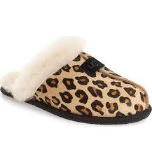 ugg slippers sale scuffette ugg scuffette ii leopard spot calf hair genuine shearling cuff