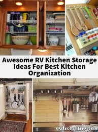 rv kitchen cabinet storage ideas 25 awesome rv kitchen storage ideas for best kitchen
