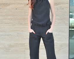 express black jumpsuit womens jumpsuit etsy