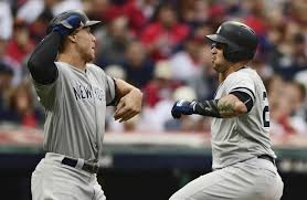 Aaron Judge Gary Sanchez Struggle In Game 1 Loss To Indians Newsday - yankees need continued production from young sluggers with hope that
