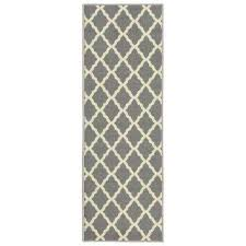Yellow And Grey Runner Rug Runner Non Slip Backing Area Rugs Rugs The Home Depot