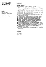 software developer resumes software developer resume sle velvet