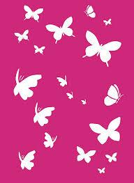 pink butterfly backgrounds butterfly stencils litttle