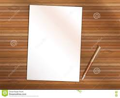 paper with writing on it blank sheet of paper with pen on wooden table copy space stock blank sheet of paper with pen on wooden table copy space stock vector