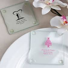 wedding coaster favors custom printed clear glass wedding coaster favors