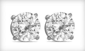 white topaz earrings 9 for a pair of 2 carat white topaz earrings groupon