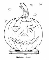 smilling pumpkin halloween coloring pages kids printable free