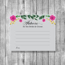 advice cards for and groom printable advice card for the groom bridal advice card