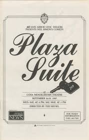 ann arbor civic theatre program plaza suite september 16 1987
