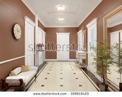 Interior Design For Hall Pictures Modern Hall Interior Design Marble Tiles Stock Illustration