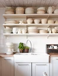 kitchen shelves white open shelving kitchen open wall shelves