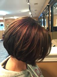 bob hair lowlights inverted bob chocolate brown with caramel highlights by deanna