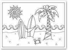 Surfboard Coloring Page Kid S Beach Party Pinterest Summer Surfboard Coloring Page