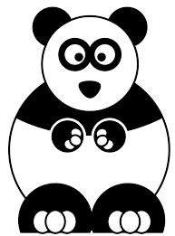 sitting panda bear clip art at clipart library vector clip art
