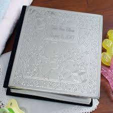 silver photo album engraved new baby photo album giftsforyounow
