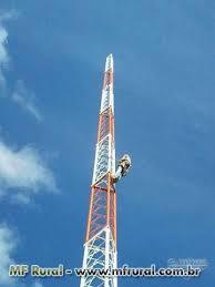 Extreme Torre Estaiada e Auto Portante Provedor Internet / FM / TV em  &QQ46