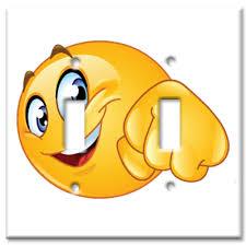 gardening emoji art plates brand single gang toggle wall plate fist bump emoji