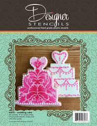 wedding cake cookies wedding cake cookie cutter and stencil set