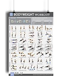 at home workout plans for women amazon com home gym exercise poster 3 pack laminated build