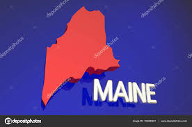 Maine State Map by Maine State Map U2014 Stock Photo Iqoncept 146390201