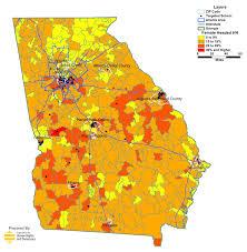 Atlanta County Map Georgia Public Schools Takeover In Maps Organization For Human
