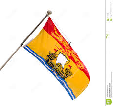 provincial flag of new brunswick canada royalty free stock images