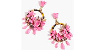 mardi gras earrings j crew mardi gras earrings in pink lyst
