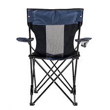 camp solutions outdoor reclining folding camp chair with armrest