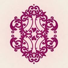 vector baroque ornament in style stock vector