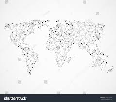 World Map Vector Networking World Map Texture Low Poly Stock Vector 552123058