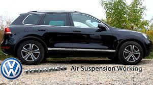volkswagen touareg air suspension youtube