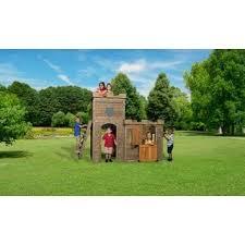 Backyard Cedar Playhouse by Backyard Discovery All Cedar Cascade Playhouse Free Shipping