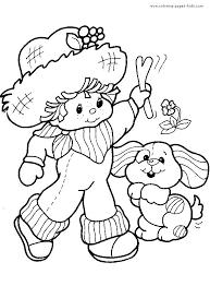 68 crafty 80 u0027s strawberry shortcake coloring images