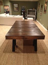 Pallet Dining Room Table Alluring Dining Room Table Made From Pallets L23q Daodaolingyy Com