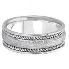 carved engagement rings fancy carved vintage engagement ring for men 14k white gold
