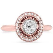 vintage halo engagement rings custom cut vintage halo ring brilliant earth