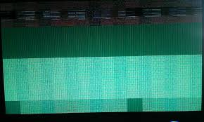 starting windows 10 distorted screen display